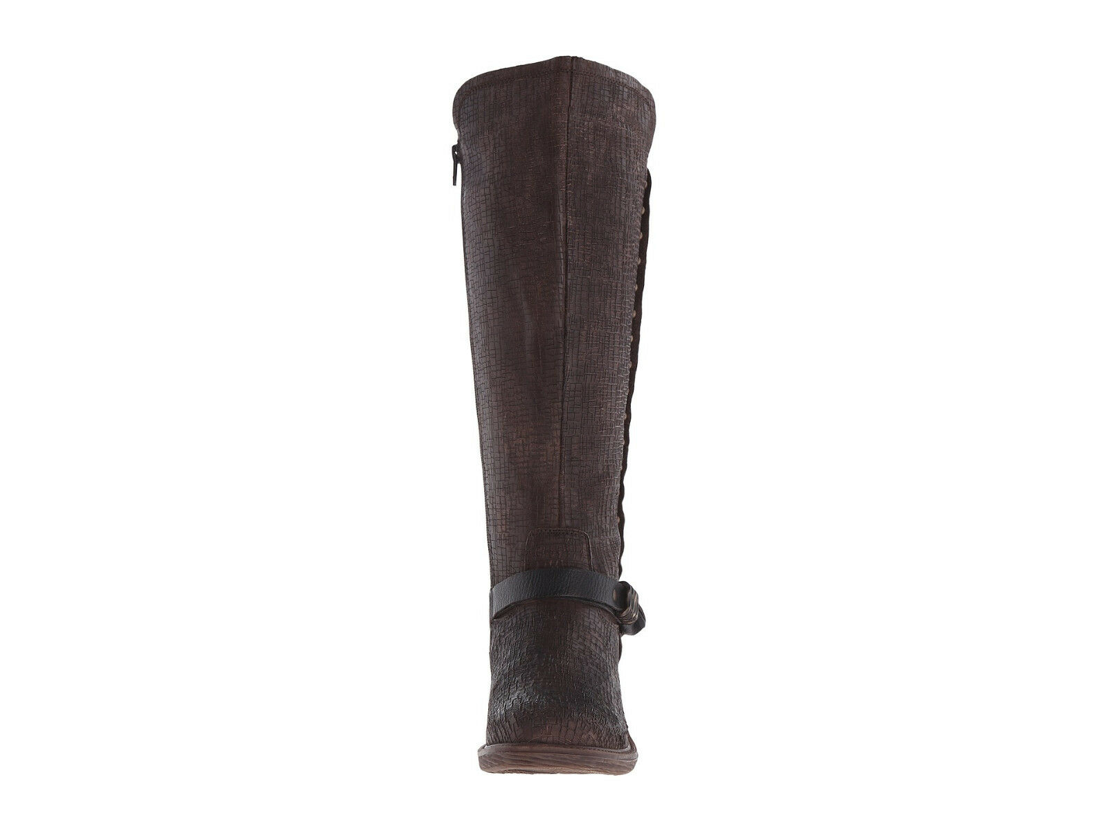 OTBT CACHE RICH BROWN 6.5 LEATHER Stiefel 6 6.5 BROWN 7 7.5 8 ZIP UP KNEE BUCKLE STUDS bd1234