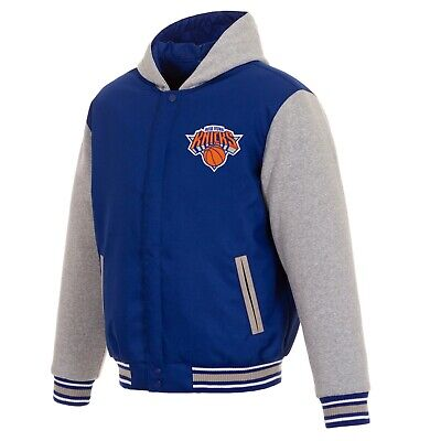 wholesale dealer 55641 cf11d NBA New York Knicks Hoodie JH Design Two Tone Reversible Fleece Hooded  jacket   eBay