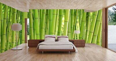 3d Bamboo Grass Stalk Plants Forest Self Adhesive Bedroom Wallpaper Mural Decor Ebay