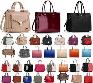 9888f570096 Details about Ladies Women's Large Designer Fashion Tote Bags Shoulder  Handbag College Bag