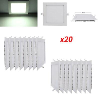 10x 9W LED Panel Lampe Warmweiß Einbaustrahler Deckenleuchte Lichtpanel Quadrat