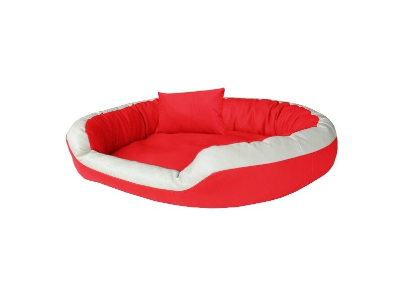 LUSSO per cani Divano letto per cani dormire Cesto Cuscino per cani in ecopelle dimensioni: MXL