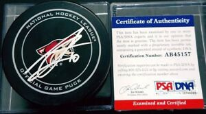 PSA-DNA-AB45157-ANTHONY-DUCLAIR-Signed-ARIZONA-COYOTES-OFFICIAL-GAME-PUCK-NHL