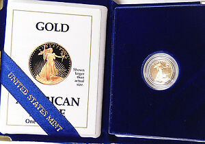Proof-1990-P-5-American-Gold-Eagle-1-10-oz-Gold-Roman-Numeral-Date