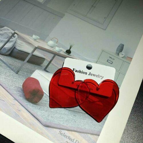 Fashion Transparent Cœur Acrylique Oreille Clous D/'oreilles Femmes Bijoux Cadeau Mariage