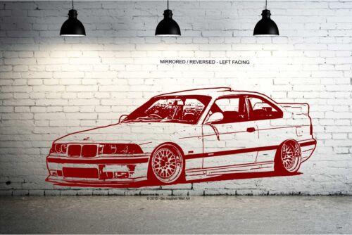 M3 Bmw E36 Wall Art Sticker