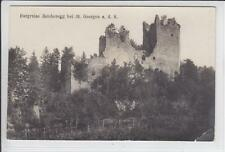 AK St. Georgen an der Stiefing, Burgruine Reichenegg, 1920 Foto-AK
