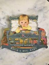 """Extremely Rare Vintage Eloise Wilkin Book """"Rock A Bye, Baby"""" - So Precious!"""
