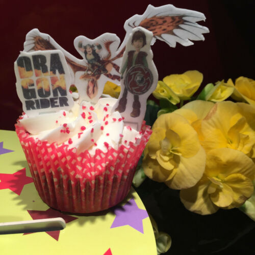 27x comment former votre dragon Sucré Comestible Cupcake stand up Toppers J