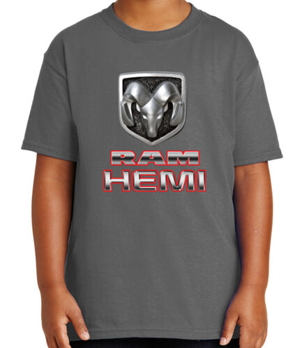 1358C Ram Hemi Truck Kid/'s T-shirt Licensed Ram Logo Tee for Youth