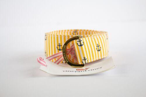 Vineyard Vines Anchor Striped D-Ring Belt Sz Med Womens Fashion College Belt