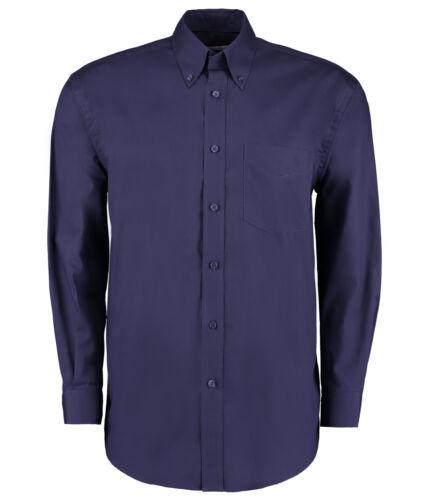 Kustom Kit-Manica Lunga Camicia Oxford Aziendale-Classic Fit-VARI COLORI