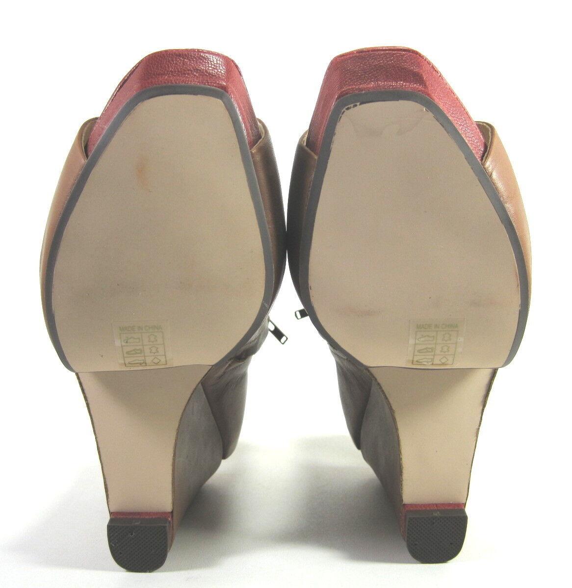 FARYLROBIN femmes  MADISON2    WEDGE SANDALS CUOIO2 LEATHER US Taille 9 MEDIUM (B)M d3773e