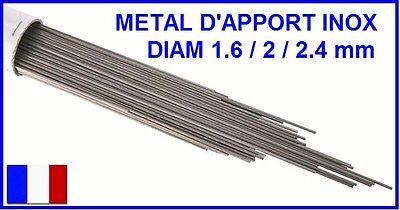 ETUI METAL D'APPORT INOX 316L SOUDAGE TIG FSH WELDING 1.6 / 2 ou 2.4 MM par 1KG