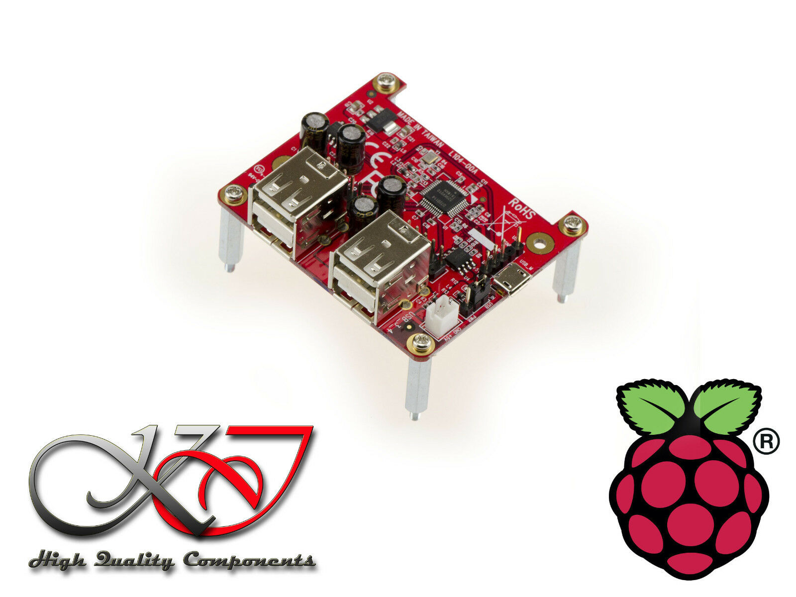 Range Pro - Controller Card 4 Ports USB for Raspberry Pi With Holder