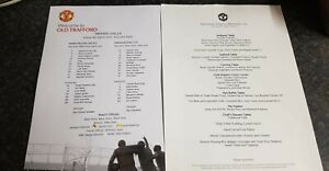 Manchester united v manchester city teamsheet + menu 08.03.20
