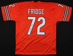 new concept 17563 0fee3 Details about The Fridge William Perry Signed Orange Jersey Chicago Bears  Football Autographed