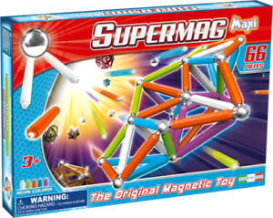 Supermag Magnetic Building Set  66 Pieces new