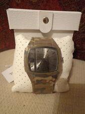 Diesel 'Trojan' Rectangular Covered Silicone Strap Watch, Camouflage DZ1671