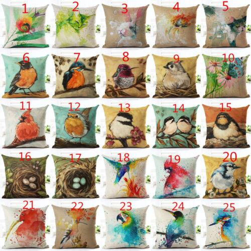 18/'/' Animal Birds Nest Pillow Linen Case Pillow Cover Sofa Cushion Cover Home De