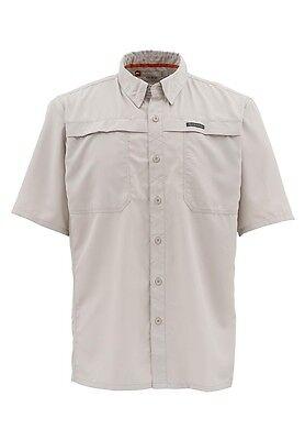 Simms EBBTIDE Short Sleeve Shirt ~ NEW Putty ~ Size Medium ~ CLOSEOUT