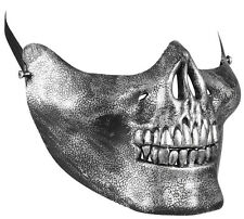 Metallische Skelett Kinnmaske NEU - Karneval Fasching Maske Gesicht
