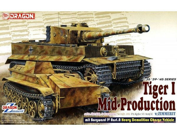 Dragon 1 35 scale kit 6866, Tiger l with Zimmerit, and Borgward  Mk.IV Ausf. A.