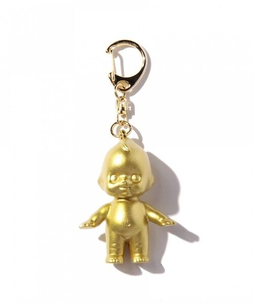 Obitsu KEWPIE QP Key Ring Chain Gold Farbe sofubi soft vinyl figure Japan F/S