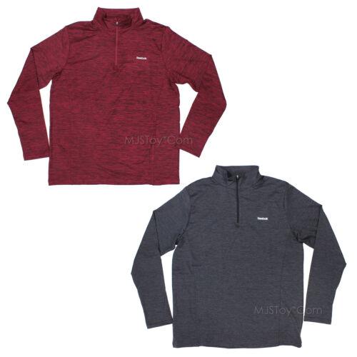 NWT Reebok Men/'s 1//4 Zip Performance Sport T-Shirt Long Sleeve Pullover L//XL