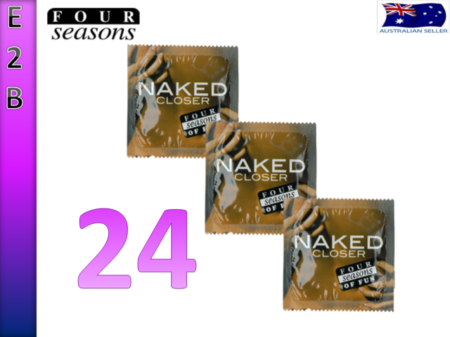 FOUR SEASONS NAKED CLOSER FIT 24 TIGHTER SMALL FIT 49mm CONDOMS