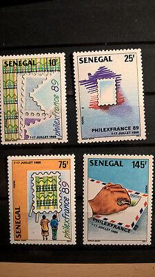 Süß GehäRtet Senegal 1989 Satz Briefmarkenausstellung Philexfrance Marke Auf Marke Mnh Zahlreich In Vielfalt Post & Kommunikation