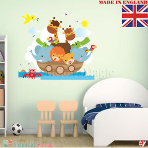 Noahs Ark Animals Wall Stickers Kids Room Bedroom Nursery Decoration ...