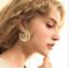 Simple-3-Cercle-Argent-Or-Plaque-Charme-Cuff-Statement-Ear-Stud-Big-Boucles-d-039-oreilles miniature 2