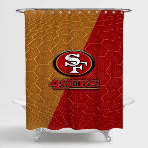 NEW San-Francisco-49ers-NFL-Honeycomb Waterproof Shower Curtain Exclusive Design
