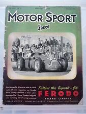 MOTOR SPORT MAGAZINE DECEMBER 1951  jm