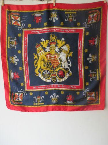 CORNELIA JAMES souvenir silk scarf /marriage of PR