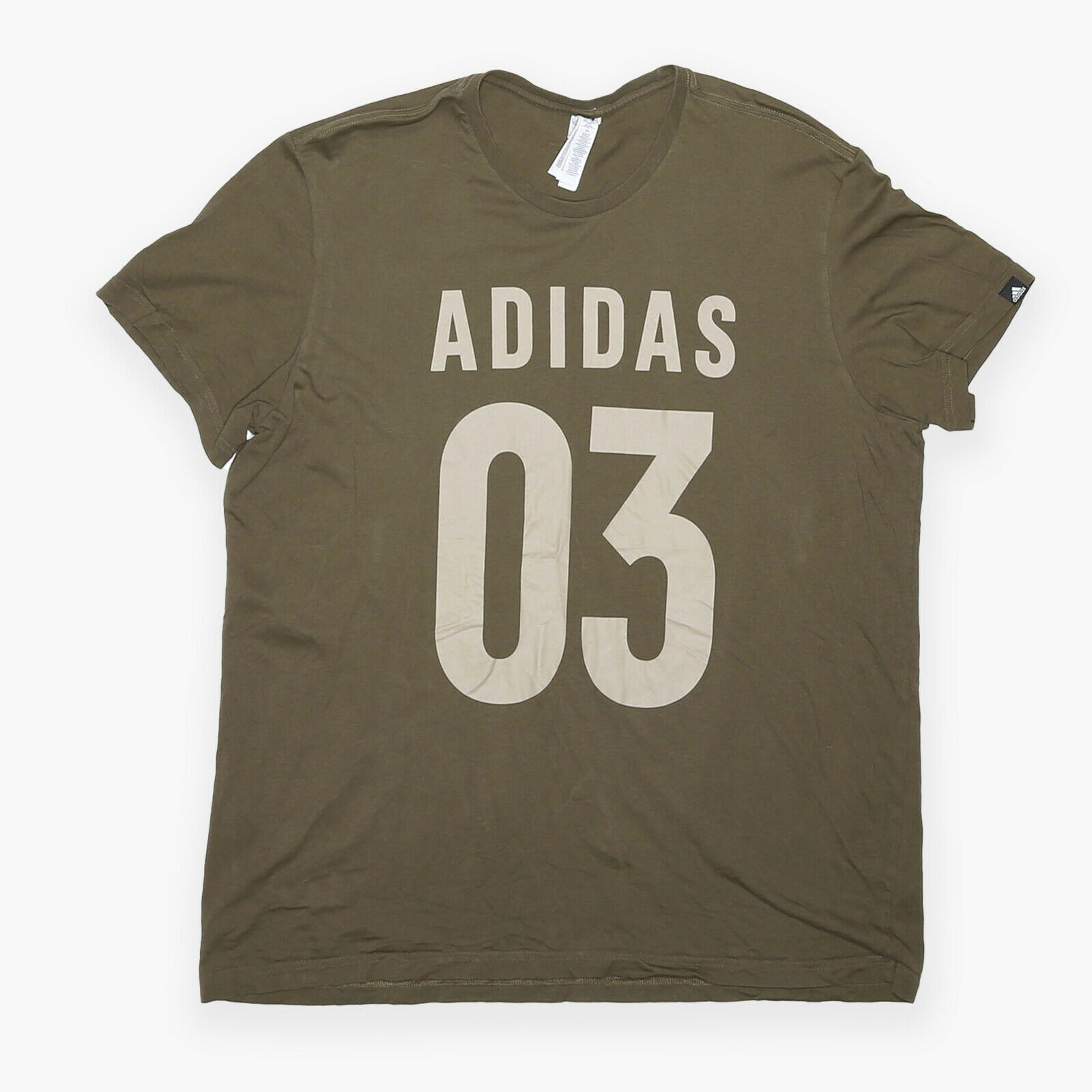 ADIDAS Green Regular Short Sleeve T-Shirt Mens 2XL