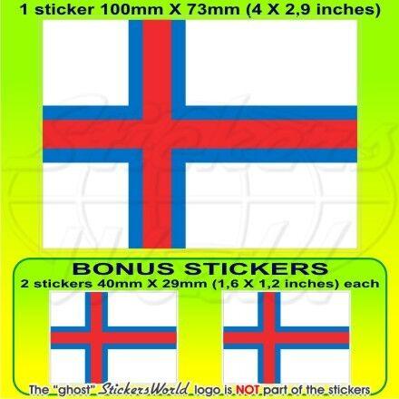 Féroé des îles Féroé Drapeau Faroe Islands Faroe 100 mm Vinyle Sticker x1 2 BONUS