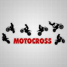 Motocross wall silhouettes,vinyl Rider silhouette stickers decal assortment set