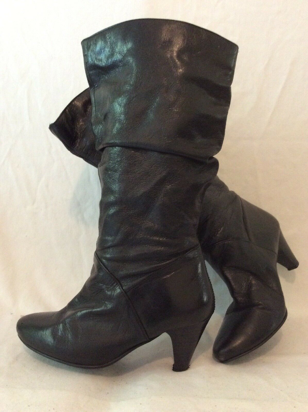 Dgoldthy Perkins Black Knee High Leather Boots Size 5