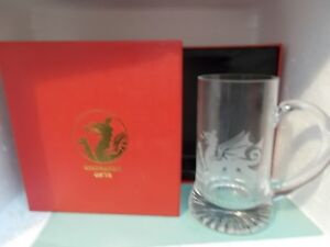 Etched Welsh Dragon Glass Tankard  stein by Kingmaker gifts Boxed - BRIDGEND, Bridgend, United Kingdom - Etched Welsh Dragon Glass Tankard  stein by Kingmaker gifts Boxed - BRIDGEND, Bridgend, United Kingdom