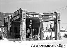 Sinclair Gas Station / Pumps, Dalhart, Texas - 1939 - Historic Photo Print