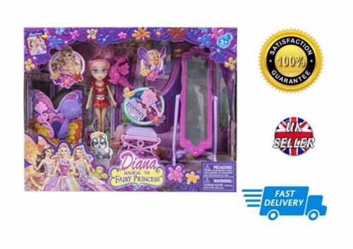 Diana Magical Fairy Princess Doll With Puppy Furniture Accessories