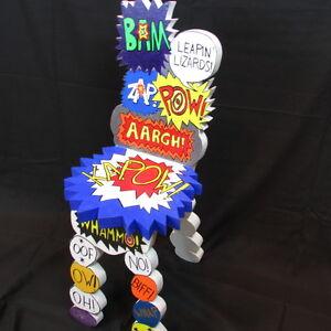 Image Is Loading POP ART After Dubuffet Comic Book Batman Chair