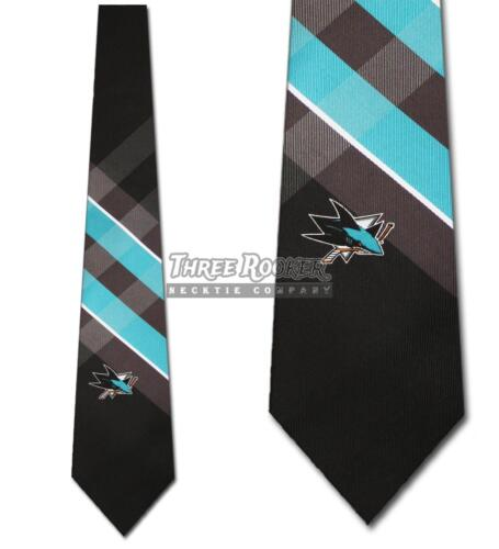 San Jose Sharks Ties FREE SHIPPING Mens Sharks Necktie Licensed Neck Tie NWT