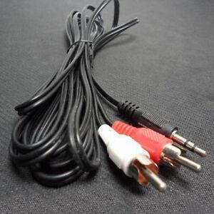 Klinke-Cinch-AUX-Audio-Kabel-3-5mm-Klinkenstecker-auf-2-Chinch-RCA-Stecker-Hot