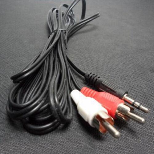 1.5m Klinke Cinch AUX Audio Kabel Klinkenstecker auf 2*Chinch RCA Stecker 3 B7Q0