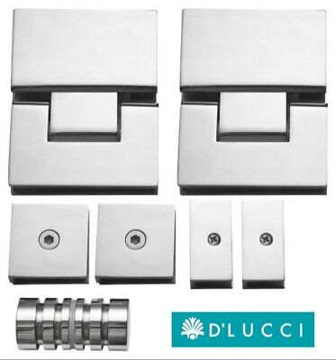 Chrome Finish D/'Lucci SHOWER SCREEN HANDLE 60x28mm Stainless Steel