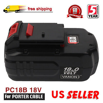 2X 18V 2.0Ah Ni-CD Battery for PORTER-CABLE PC18B PCC489N 90533718 PC186CS PCMVC