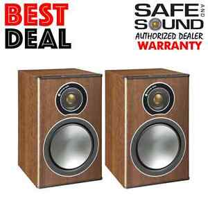 Image Is Loading MONITOR AUDIO BRONZE 1 BOOKSHELF SPEAKERS PAIR WALNUT